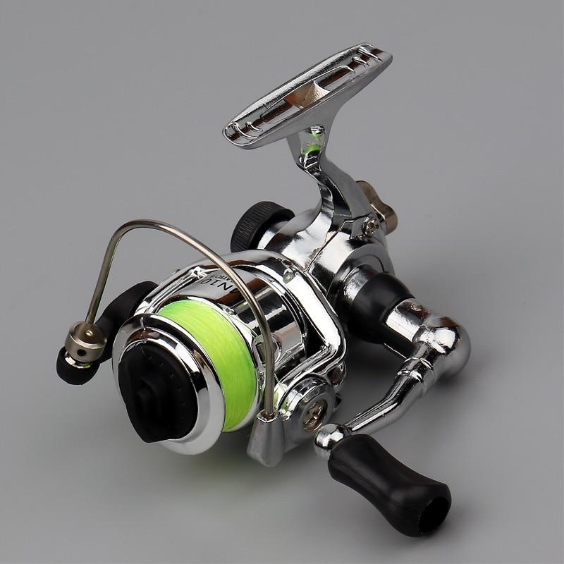 Mini Pocket Fishing Reel 4.3:1 Spinning Alloy Fishing Tackle Small Reel Bass