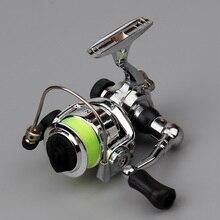 Mulinello da pesca con Spinning EMMROD Mini100 2 1BB 4.3:1 bobina in metallo ruota in lega attrezzatura da pesca mulinello da Spinning pesca mulinello da ghiaccio piccolo