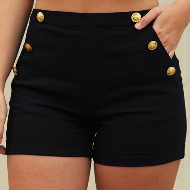 Summer Solid Color High Waist Shorts Women Casual Wild Thin Shorts New Fashion Slim Elastic Waist Shorts High Quality
