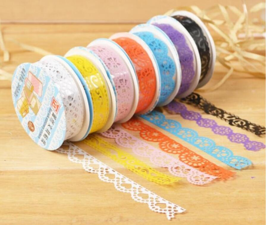 1pcs/lot Lace Tape DIY Multifunction Adhesive Tape Colorful  Stationery Decorative Sticker DIY Tape Office Wholesale
