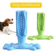 Escova de dentes para cachorros, brinquedo que escova os dentes, colocar pasta de dente para cães, brinquedo de borracha natural