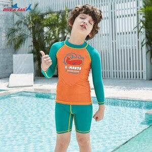 Image 4 - Plongée & voile enfants garçons maillot de bain combinaison de natation 2 pièces ensemble UV50 + protection solaire pour 3 9y enfants éruptions cutanées surf maillot de plage
