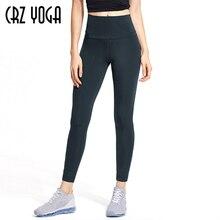 Crz yoga leggings de yoga feminino nu sentimento eu calças de treino apertadas de cintura alta 25 polegadas