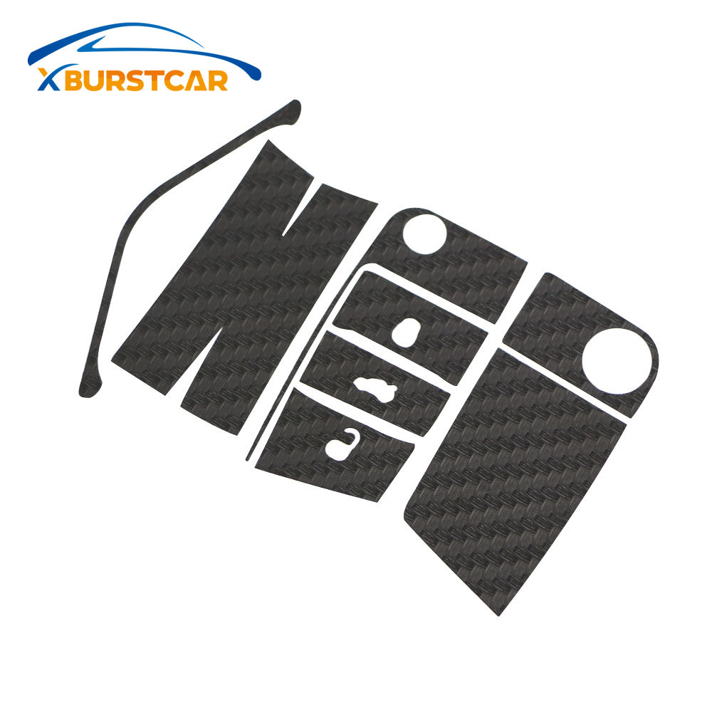 Xburstcar <font><b>Carbon</b></font> Fiber Car Key Stickers for <font><b>VW</b></font> <font><b>Golf</b></font> <font><b>7</b></font> MK7 GTI for Skoda Octavia A7 A <font><b>7</b></font> 2014 -2017 Seat Leon Ibiza Cuptra image