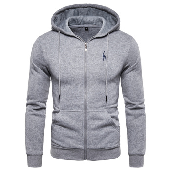 2019 New Autumn Winter Cotton Hoodied Mens Sweatshirts Solid Hoody Fleece Thick Hoodies Men Sportswear Zipper Sweatshirts Men 1