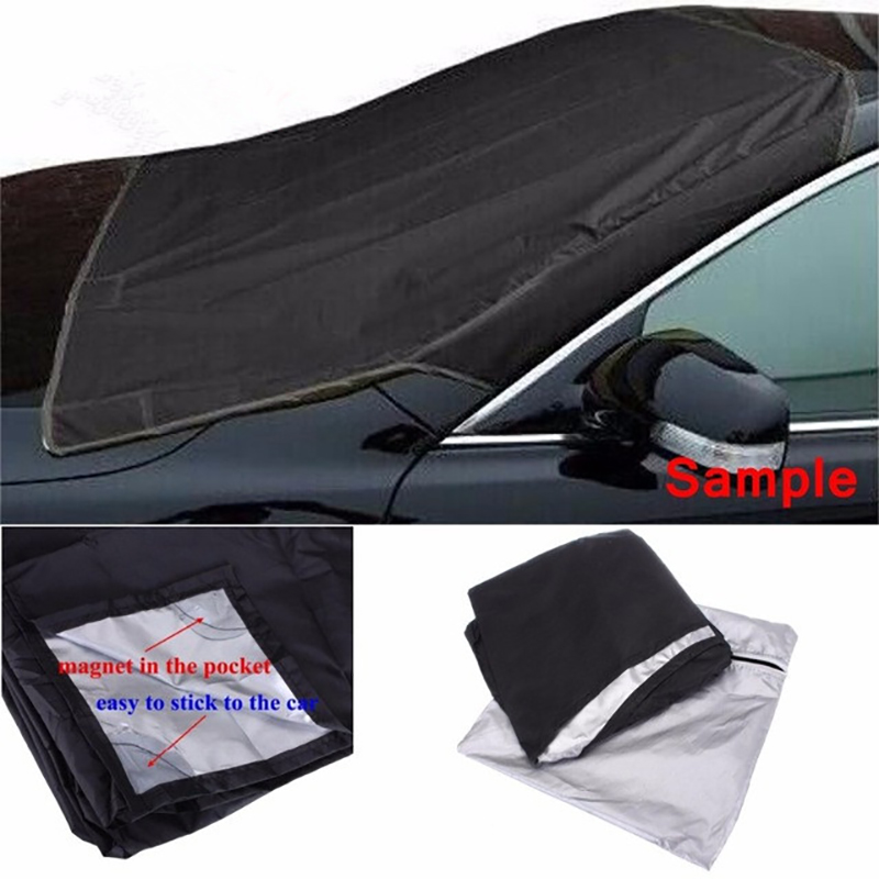 Winter Snow Blocker Magnetic Windshield Cover Car Snow Cover Anti-Freeze Half Car Front Glass Block image