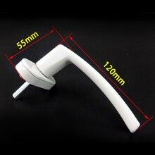 Прочный цинковый сплав белый Espagnolette оконная ручка НПВХ ручки для створчатого распашного окна замена оборудования дверные ручки