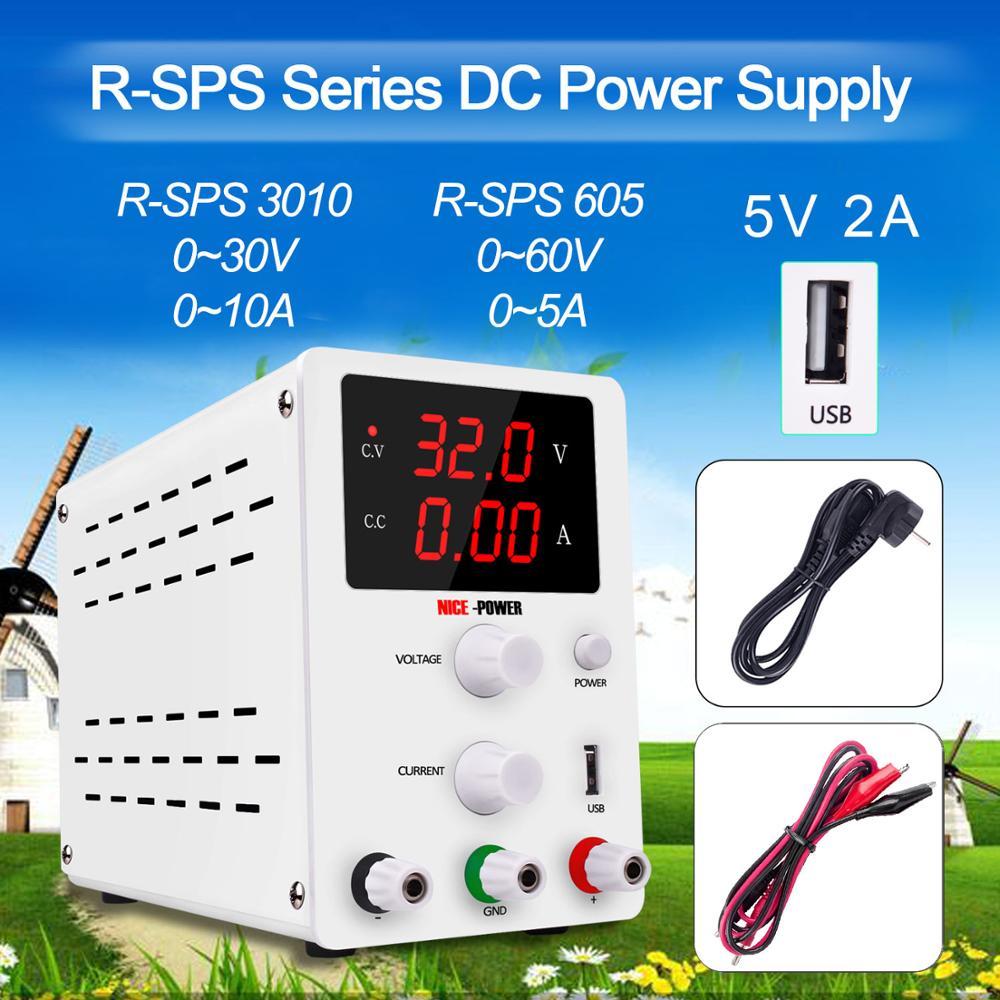 Laboratoire réglable DC alimentation commutation 30V10A banc Source unité numérique contrôle de puissance 220 v-110 v stabilisateur de courant