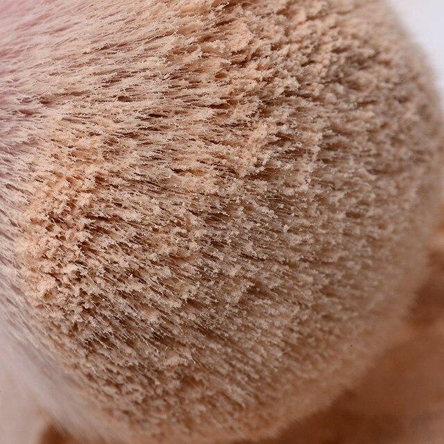 Large Rose Gold Foundation Powder Blush Brush Professional Make Up Brush Tool Set Cosmetic Very Soft Big Size Face Makeup Brushe 4