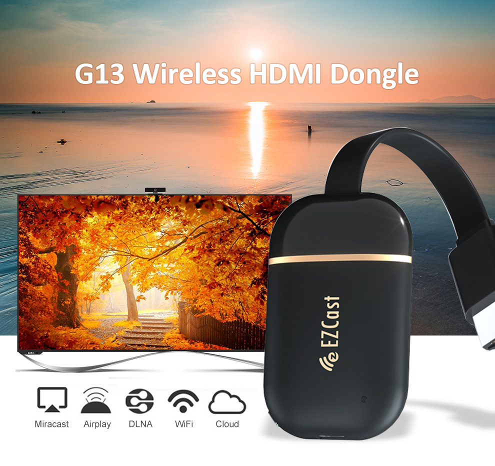 Ezcast G13 Wireless Wifi HDMI TV Dongle 128MB Miracast /Airplay /DLAN 1080P 2.4G&5Ghz Dual Wifi TV Stick For Android,IOS,Windows