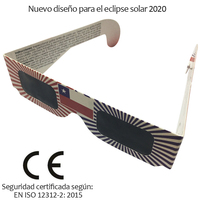 100pcs/lot Certified Safe 3D Paper Solar Glasses,lentes vr Eclipse Viewing Glasses Newest Design For Chile 2020
