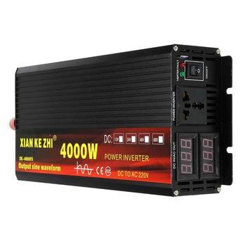 Inverter 12V/24V 220V 2000/3000/4000W Voltage transformer Pure Sine Wave Power Inverter DC12V to AC220V Converter LED Display modified sine wave ups power inverter 1500w dc12v input to ac220v output with battery charging function
