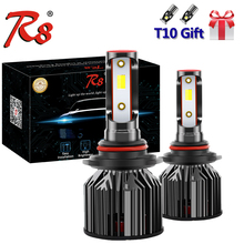 R8 3 colors Car LED Headlight Compact Bulb H7 H4 H27 H13 9012 Dual Color Tricolor Head Lamp Bulbs 6000K 3000K 4300K White Yellow
