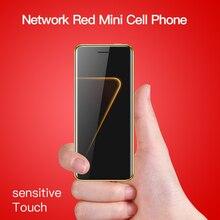 Сенсорный ключ ультра тонкий мобильный телефон роскошный дизайн Bluetooth Dialer анти-потеря две sim-карты мини мобильный телефон камера 3,5 мм разъем для наушников