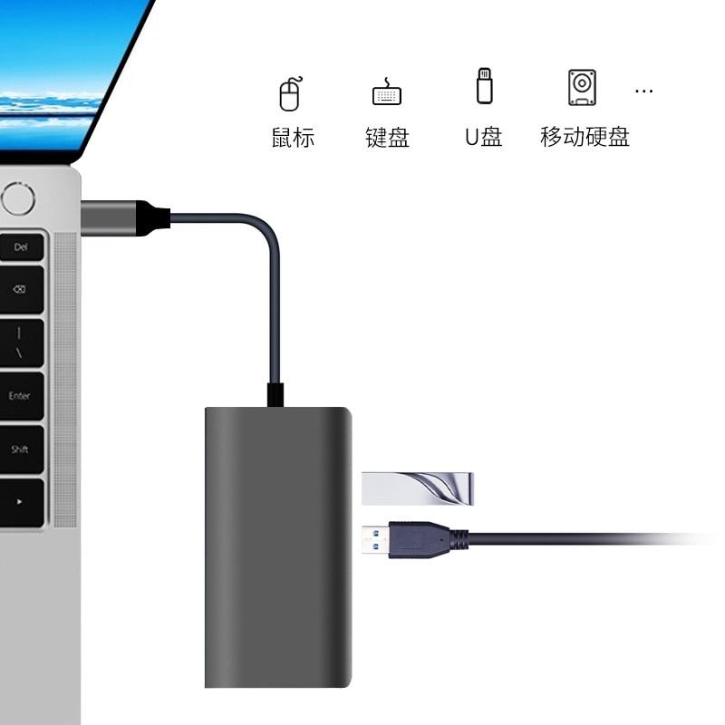 Adaptateur de moyeu de USB C pour Apple MacBook Pro 13