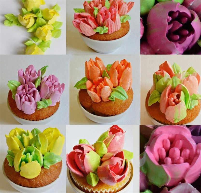 2Pcs À faire soi-même russe pâtisserie fleur givrage Piping Buses Gâteau Décoration Cuisson Outil