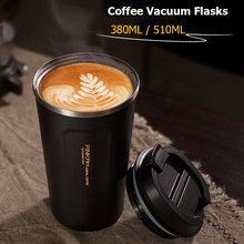 Hot Sale 380 & 500ml 304 Stainless Steel Thermo Cup Travel Coffee Mug with Lid Car Water Bottle Vacuum Flasks Thermocup for Gift