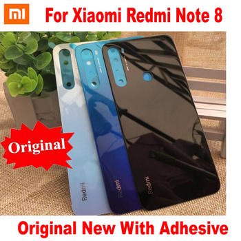 100% Original New Note8 Back Battery Cover Door Housing Rear Case For Xiaomi Redmi Note 8 Pro Glass Panel With Adhesive Tape