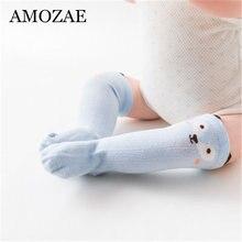 Милые унисекс детские носки Нескользящие до колена для мальчиков