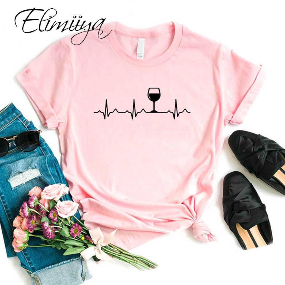 Elimiiya Gloednieuwe Harajuku Zomer T-shirt Vrouwen Mode Liefde Gedrukt T-shirt Vrouw Tops Tee Casual Plus Size Vrouwelijke T-shirts