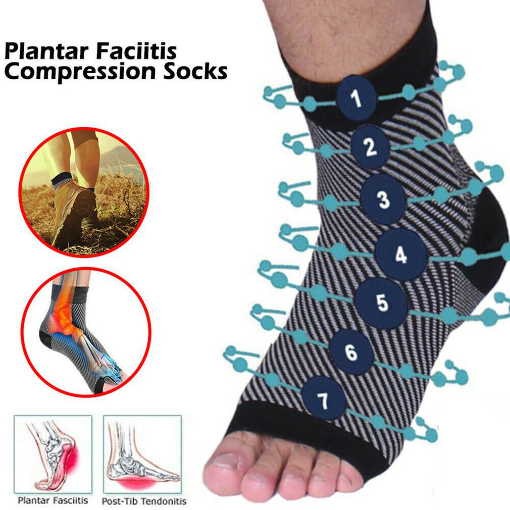 Foot Plantar Fasciitis Arch Support Compression Socks Ankle Protection Heel Brace Copper Leg Support Stretch Health Socks Hot