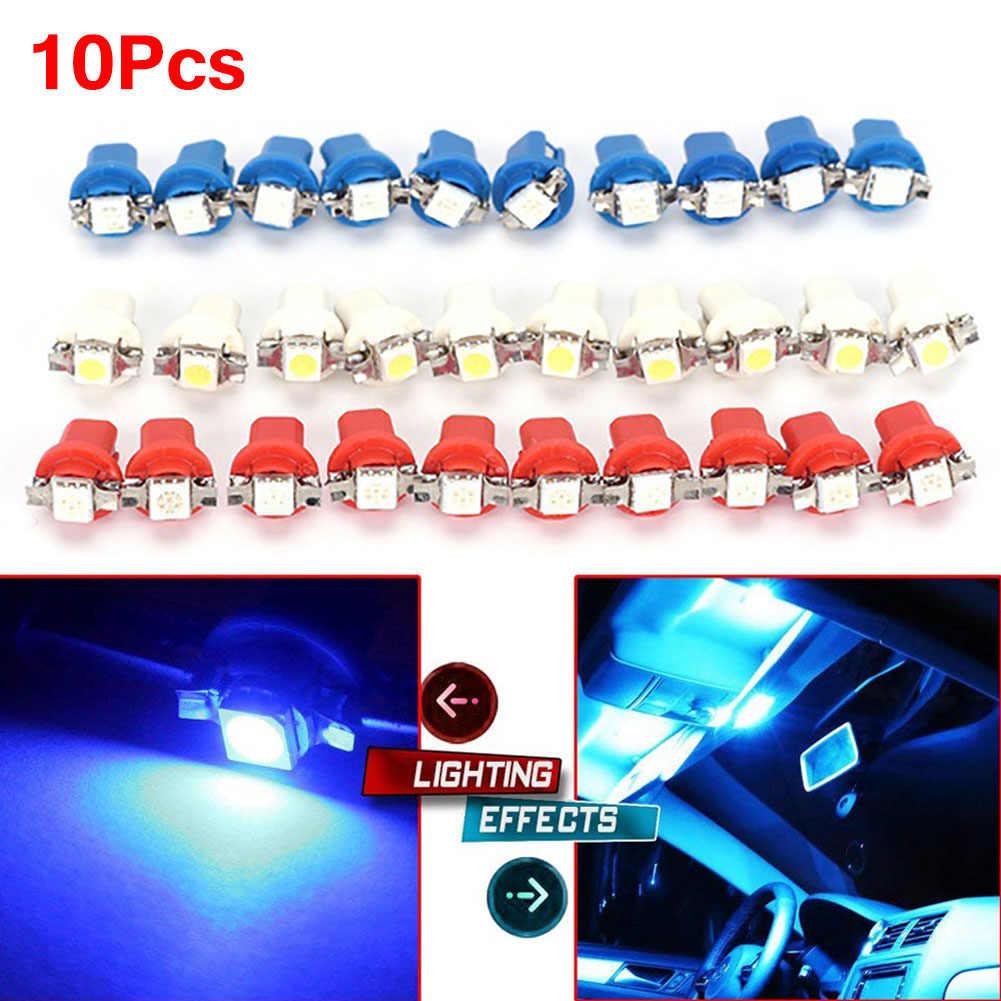 10 Uds. B8.3D 5050 lámpara LED coche calibre de luz cuña Interior lámpara Interior nterior salpicadero número placa sidelight Boot bombillas