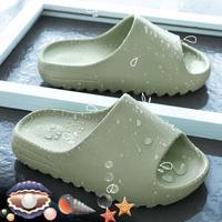 Zapatillas de casa para niño y niña, chanclas de verano de fondo suave, zapatillas de Interior para bebé, zapatos de amor de playa, estilo familiar