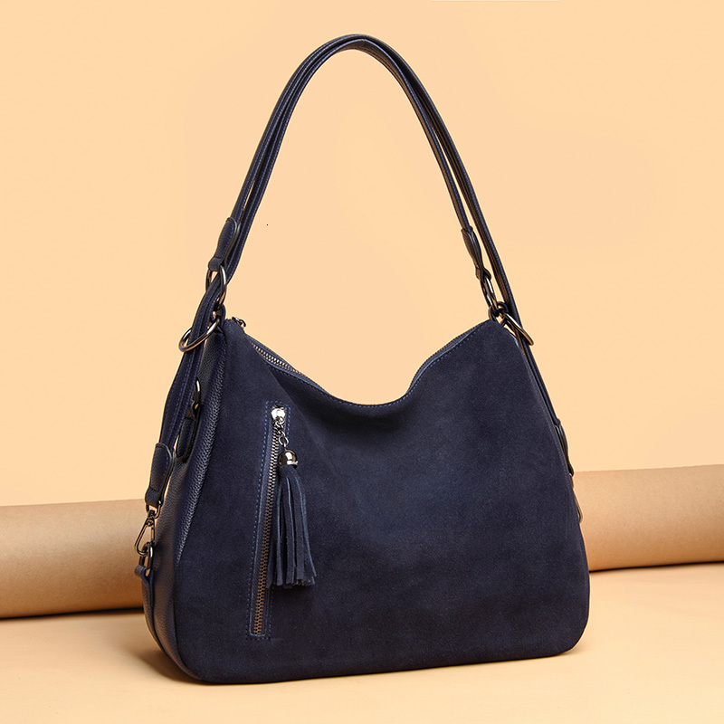 Image 4 - Luxury Handbags Women Tote Bags Designer Famous Brand Faux Suede Shoulder Crossbody Bags Ladies Casual Big Hobos Bags FemaleShoulder Bags   -