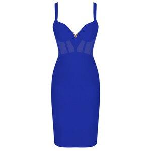 Image 4 - Ocstrade夏セクシーなレーヨン包帯ドレス 2020 新着メッシュインサート女性包帯ドレス黒パーティーナイトクラブボディコンドレス