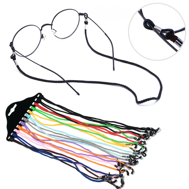 12pcs Convenient Eyeglass Glasses String Lanyard Glasses Wearing Neck Holding Wire Rope Sunglasses Neck Cord Strap Hot Sale