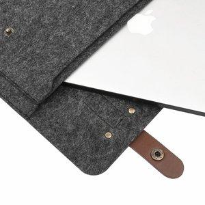 Image 2 - Mosiso 13 13.3 15 15.6Inch Voelde Laptop Sleeve Tas Voor Macbook Air Pro 16 Inch A214 Notebook Aktetas Messenger schoudertassen