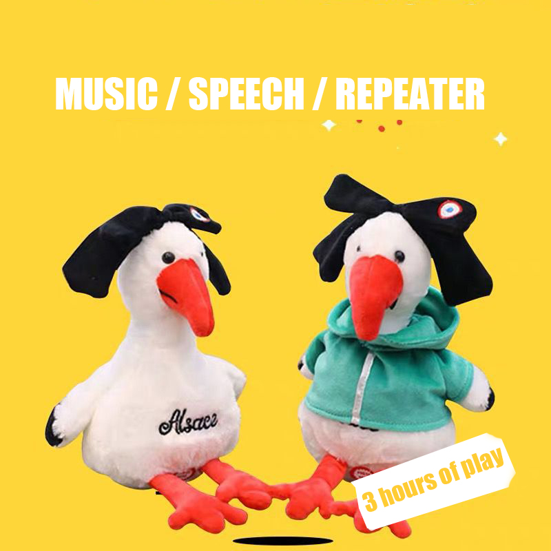 New Repeating Chicken Learning Talking Toy Recording Usb Charging Child Companionship Singing Toy Gifts For Children