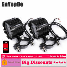 EnYepBo 2PCS Led motorcycle headlight white bulb 6000k 12V Cars Motorcycle Accessories External Scooter light