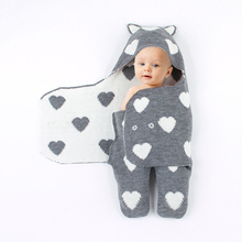 Baby Blankets Newborn Cotton Swaddling Blanket Soft Warm Knitted Swaddle Kids Bath Towel Baby Toddler Bedding Blankets цена в Москве и Питере