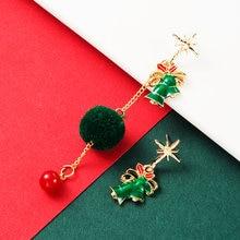 Новые модные и горячие продажи серьги с подвеской в виде рождественского