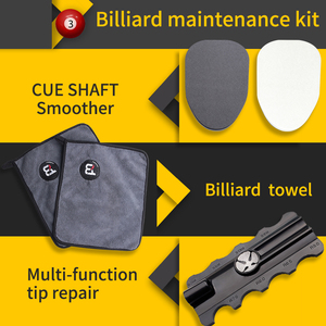 Billiard accessories maintenance 3 in 1 kit pool cue towel shaft smoother muti-functional tip shaper suitable for snooker cue()
