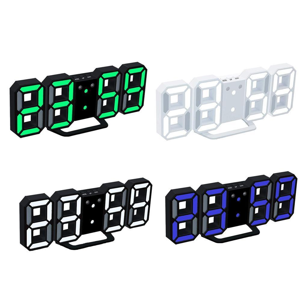 Modern Wall Clock Timer 3D LED Digital Wall Clock Temperature clock T7Z0 image