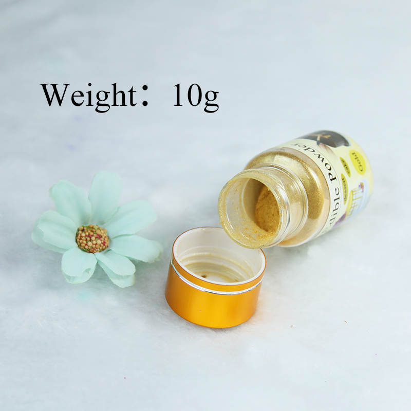Edible Food Coloring Gold Food Powder 10g Dye For Cake Decorations Baking Pastry Macaron Chocolate  Arts Food Pigment Colorantes