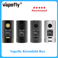 Recommend! Vapefly Kriemhild 200W Box Mod powered by dual 18650/20700/21700 batteries with max 200W output vape mod