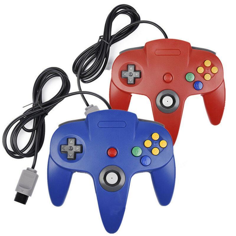 N64 Управление; Джойстика геймпад длиной, проводной Для Nintendo 64 консоли игры Для Nintendo геймпад консоли проводной джойстик Dualshock Управление