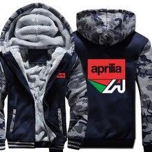 Motorcycle Aprilia Sweatshirt Camouflage sleeve Jacket Hoody Zipper Winter Fleece Aprilia Motor Hoodies