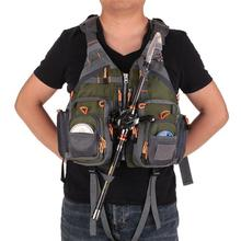 Fly Fishing Mesh Vest General Size Adjustable Breathable Vests Buoyancy Suit Swimming