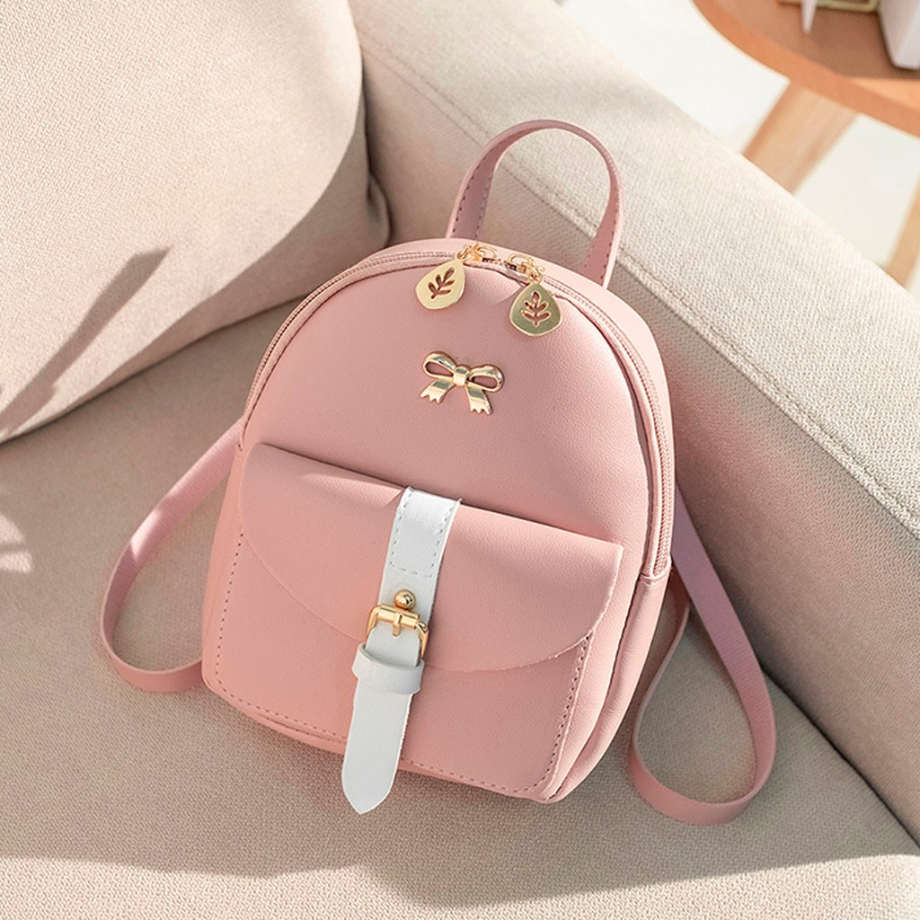 2019 Top Female Backpack Women Fashion Lady Shoulders Small Femal Backpack Letter Purse Mobile Phone Bag #LL