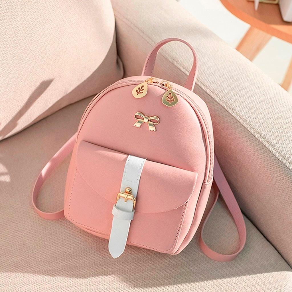 2019 mochila femenina superior para mujer, moda, hombros para mujer, Mochila pequeña para mujer, monedero con letras, bolsa para Teléfono Móvil # LL