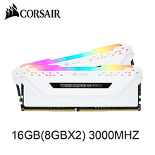 DDR4 PC4 Memory Corsair Vengeance Kit-White DIMM Dual-Channel 3000mhz 16GB Rgb Pro 2X8