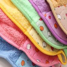 Cartoon Hand Towel Children Microfiber Hand Dry Towel Bathroom Towel Plush Absorbent For Soft Kitchen Fabric Hang Use P6Q6