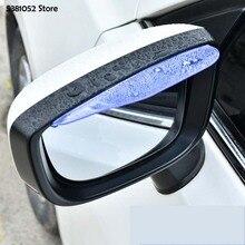Car Rain Brow Rear View Mirror For Mazda CX30 CX-30 2019 2020 Rain Shield Protector Sticker Car stying