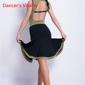 Image 2 - Latin Dance New Female Adult Sexy Skirt Latin profession Training Clothes Woman Competition Performance Clothes