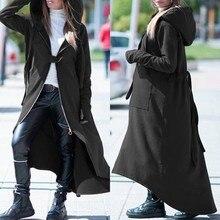 Asymmetrical Coats Women's Zipper Jackets 2020 ZANZEA Casual Hooded Long Sleeve
