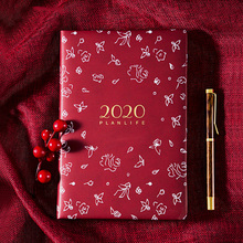 A5 Agenda 2020 planner organizer Notebook Daily monthly Weekly Plan Notebooks for school office Supplies Stationery calendar цена в Москве и Питере